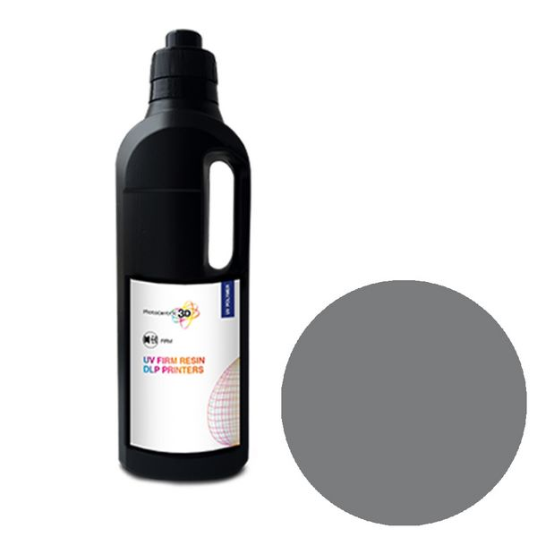 UV DLP Firm Resin GREY 1000ml - Photocentric3D