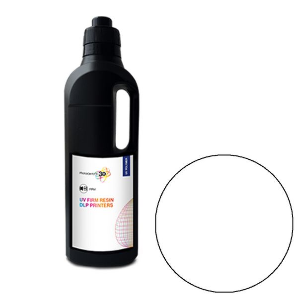 UV DLP Firm Resin WHITE 1000ml - Photocentric3D