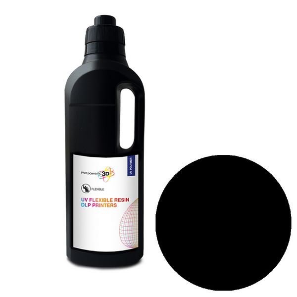 UV DLP Flexibile Resin BLACK 1000ml - Photocentric3D