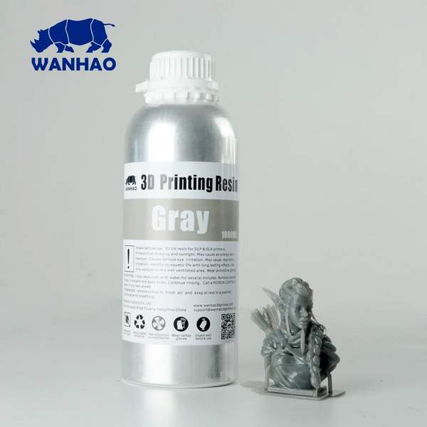 WATER WASHABLE UV Resin GREY 1000ml - WANHAO