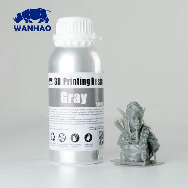 WATER WASHABLE UV Resin GREY 500ml - WANHAO
