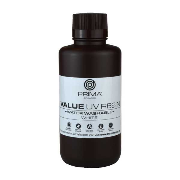 Water Washable UV DLP Resin WHITE 500ml - PrimaCreator