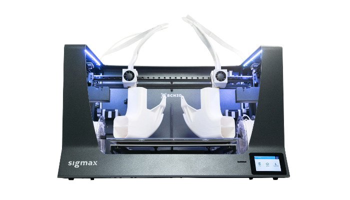 dual extruder 3d printer bcn3d sigmax r19