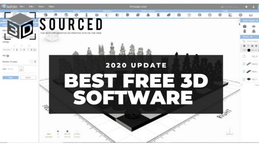 Top 10 Best Free 3d Modeling Software For Beginners 2020 3dsourced