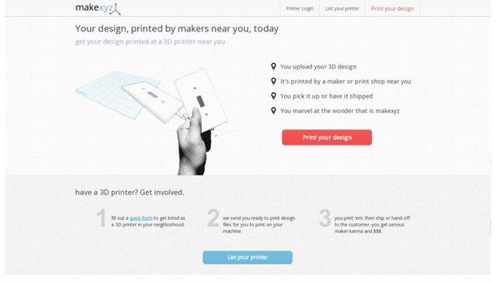 makexyz best online 3d printing service