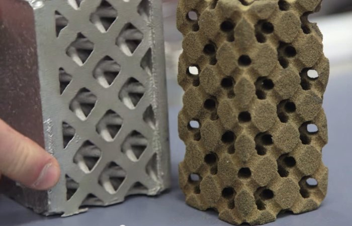 binder jetting 3d printing sand part