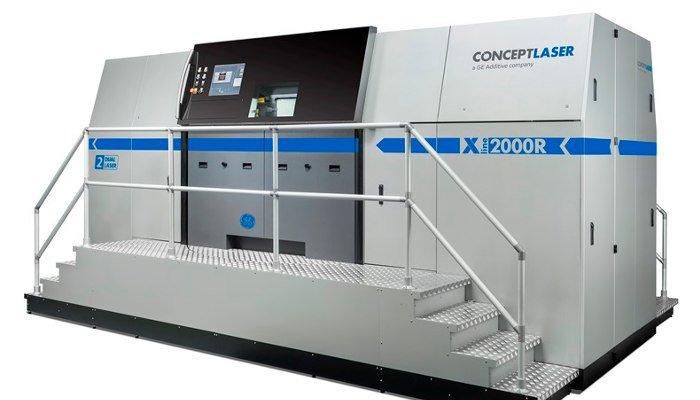 concept laser x line 2000r large 3d printer