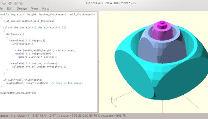 openscad free 3d software