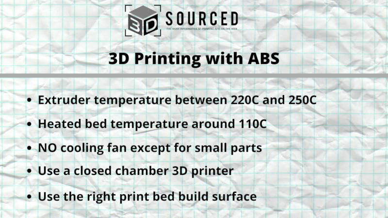 3d printing with abs filament