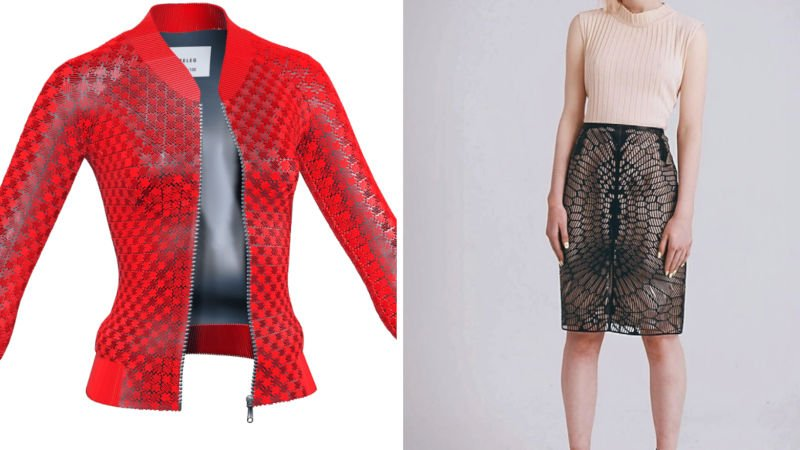 3d printed garments jackets and skirts
