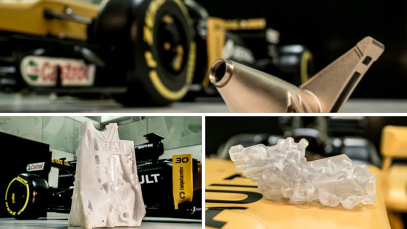 3d printed parts used in renault f1 cars