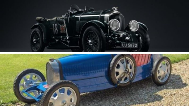 bugatti baby and bentley blower classic cars restored using mostly 3D printed car parts