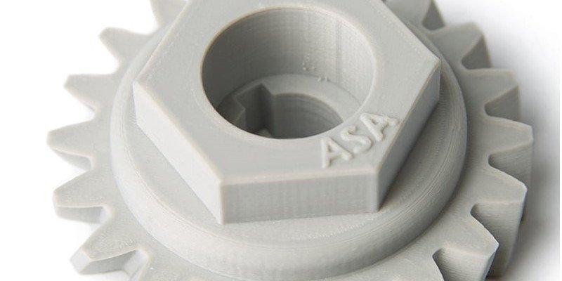 3D printed ASA component