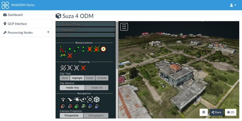 webodm free drone photogrammetry software