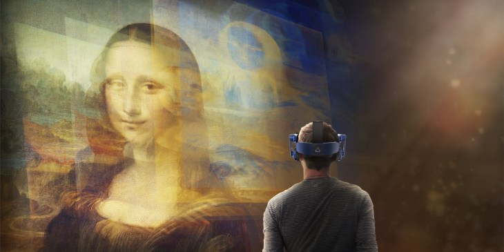 mona lisa VR 3D museum experience