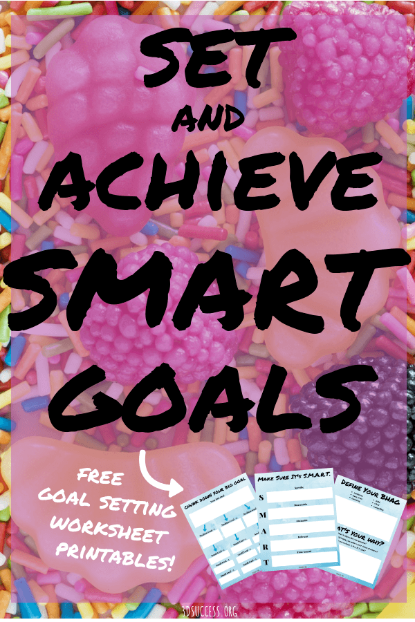 Set and Achieve Smart Goals Pin