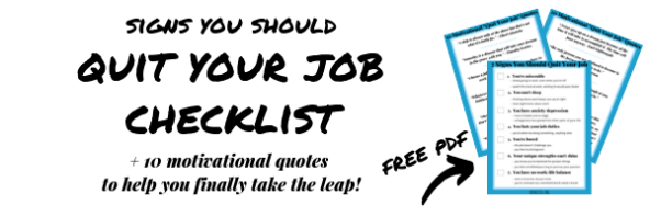 Quit Your Job Freebie Opt-in