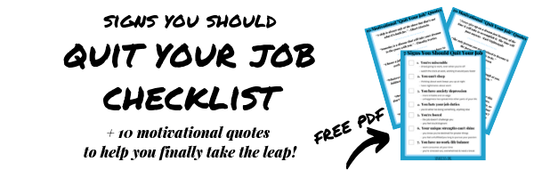 Quit Your Job Freebie Opt-in