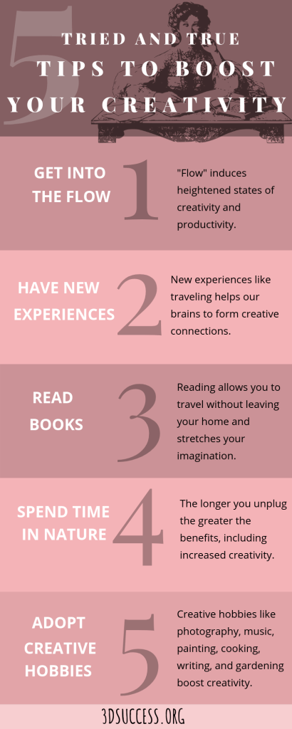 Tips to Increase Your Creativity Infographic Pin
