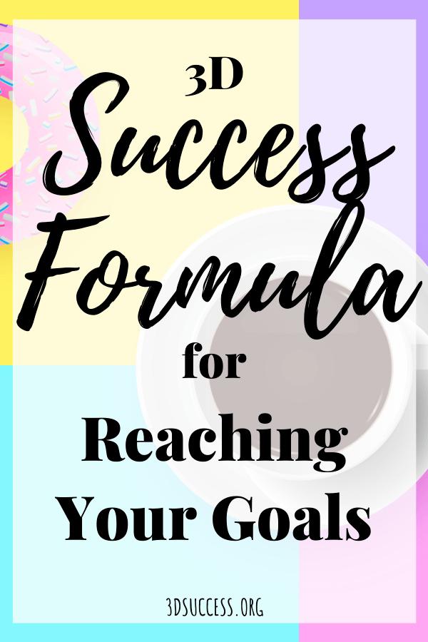 3D Success Formula for Reaching Your Goals Pin