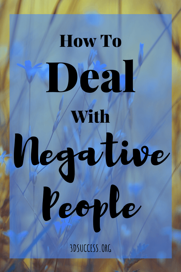 How to Deal with Negative People Pin