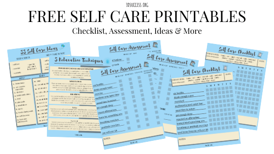 Self Care Printables Opt-In Pic