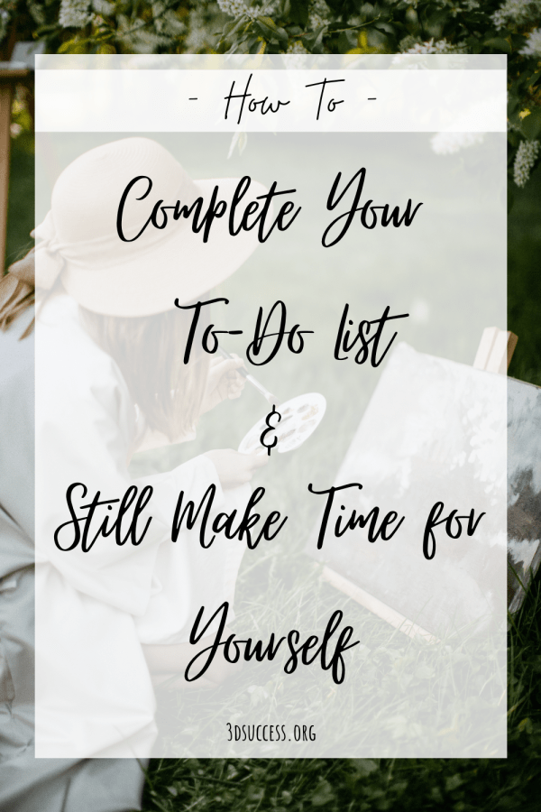 Make Time for Yourself Pin