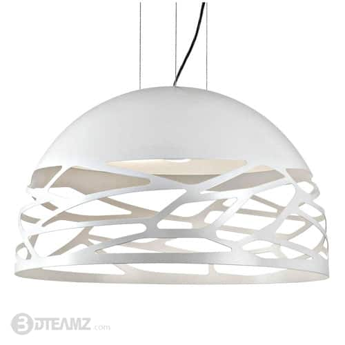 Studio Italia Kelly Dome Pendant Light White 3D Model