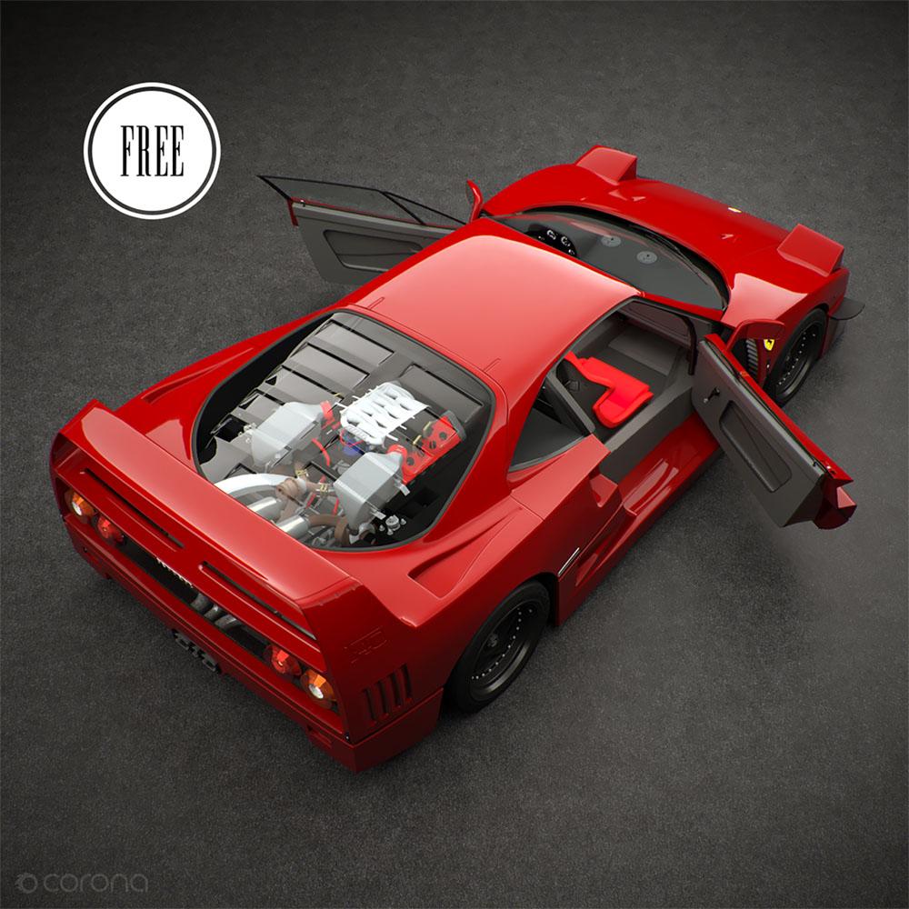 Free Ferrari F40 3d Model