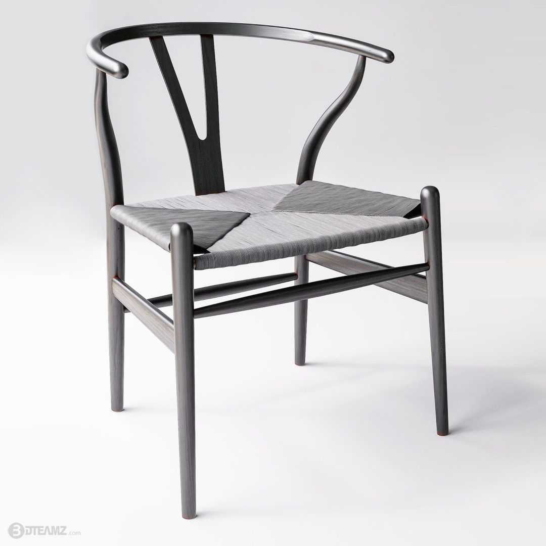 Carl Hansen Wishbone Chair 3D