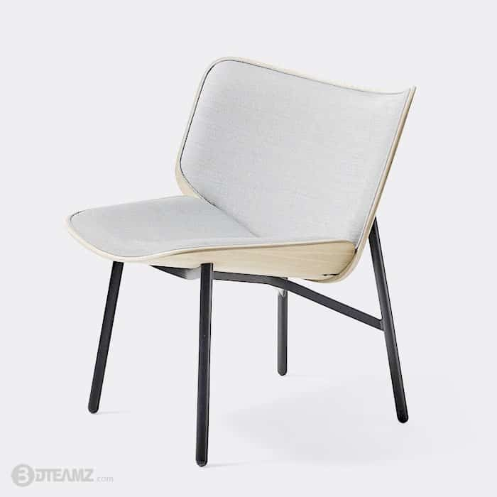 Hay Lounge Stoel.Hay Dapper Lounge Chair 3d