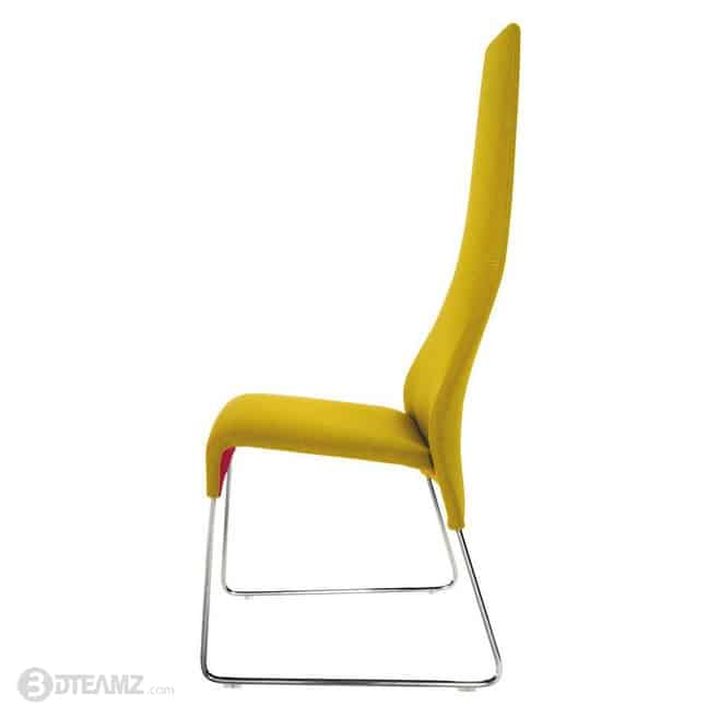 Bb Italia Lazy 05 Yellow High Back Chair 3d