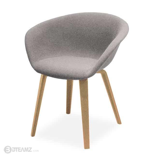 Outstanding Arper Duna 02 Armchair Wood Leg 3D Model Machost Co Dining Chair Design Ideas Machostcouk