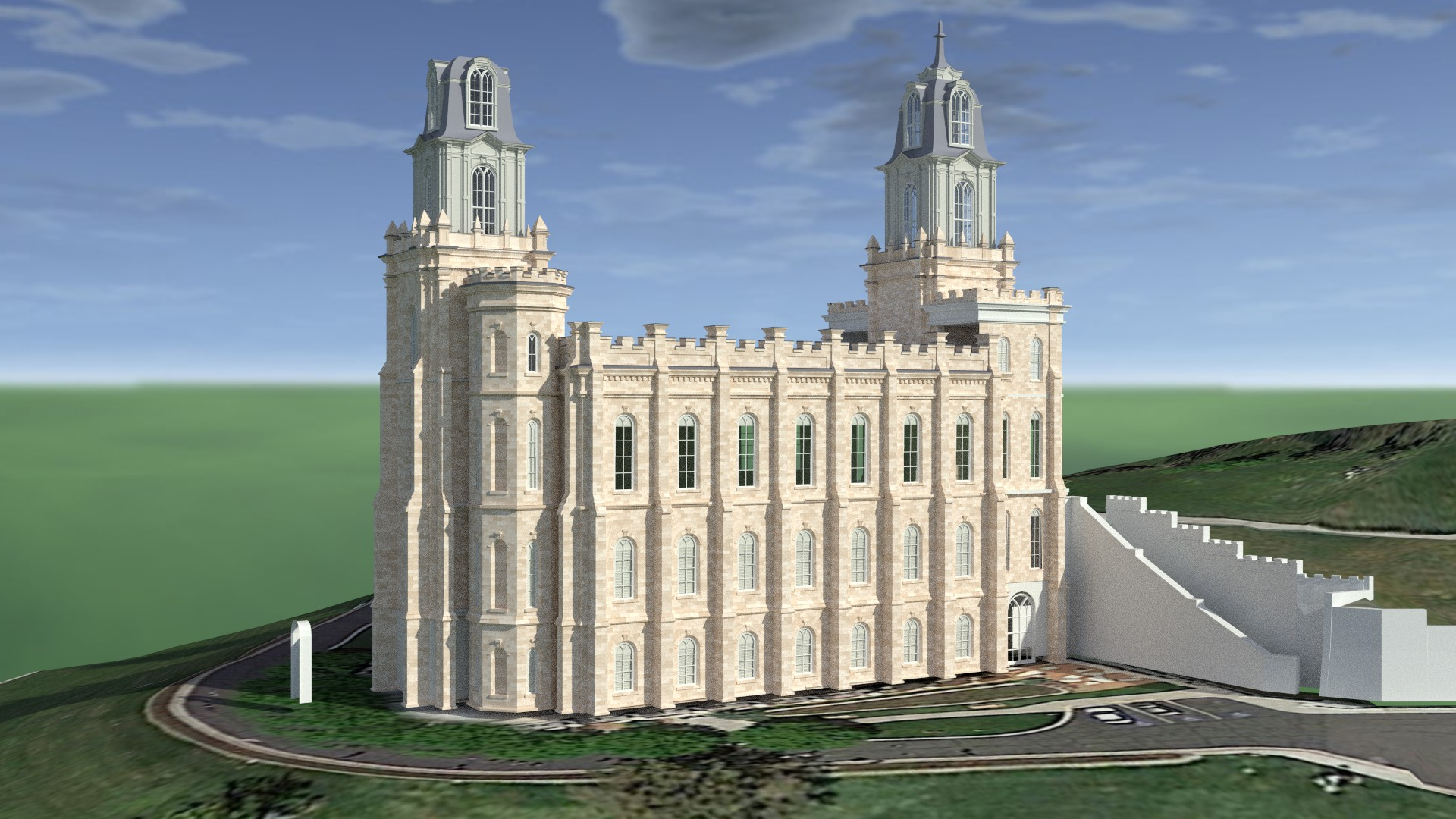 Manti Utah Temple Early