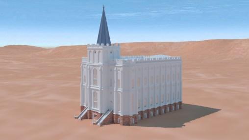 Saint George Utah Temple Early Spire Design