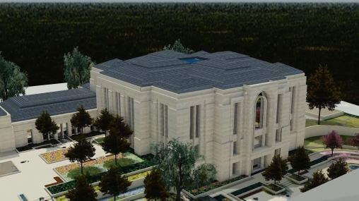 Paris France Temple early render