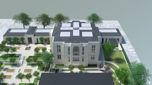 Paris France Temple Render