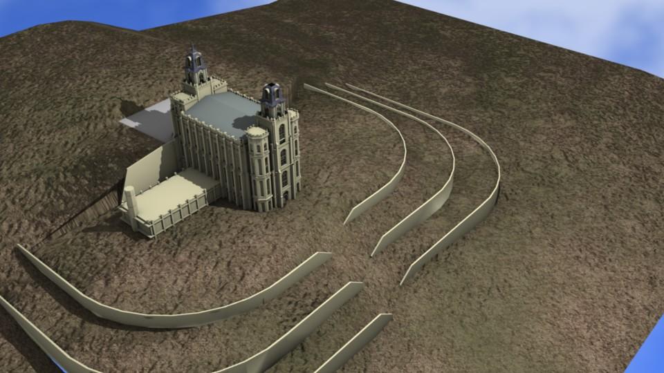 Early Model Manti Utah Temple