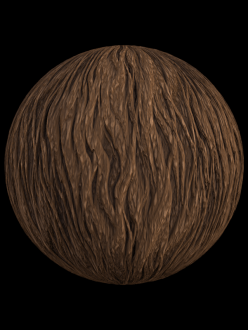 stylized bark wood tree