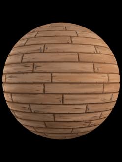 handpainted wood planks