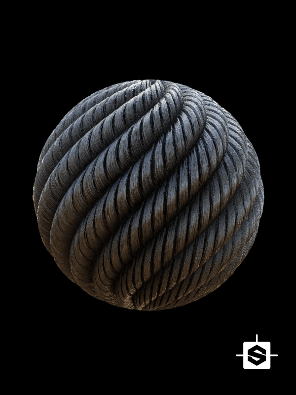 free seamless pbr steel cable texture