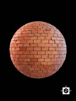 free seamless pbr terracotta bricks texture