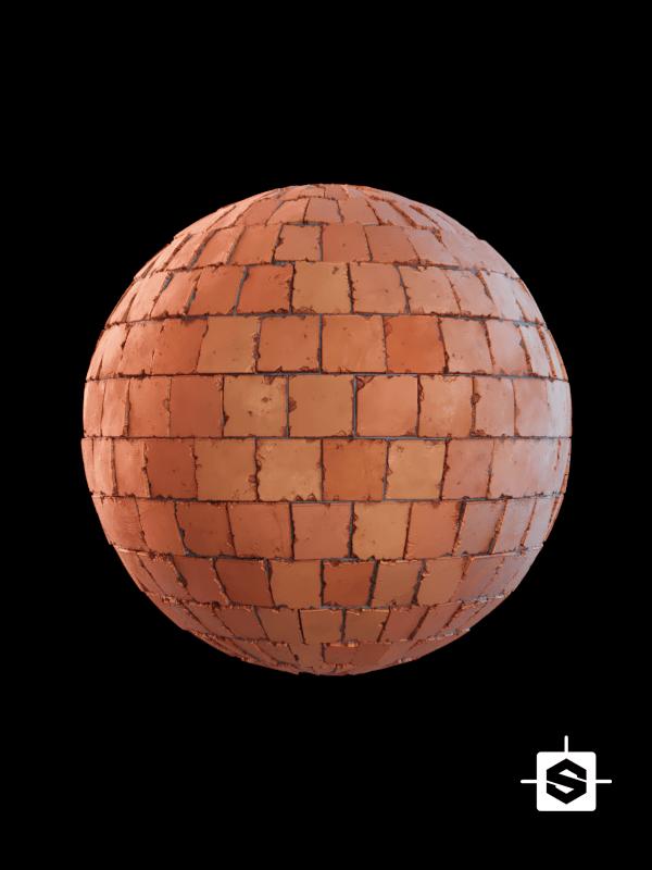 free seamless pbr terracotta tiles texture