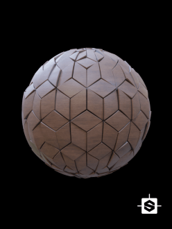 free seamless pbr wood tile texture