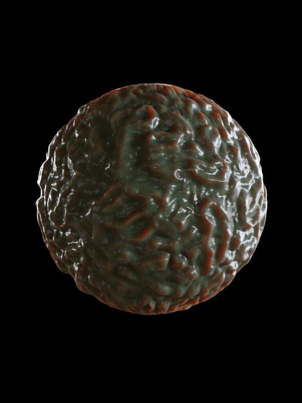 free seamless pbr organic alien texture