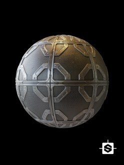 free seamless pbr metal plate scifi texture sci-fi