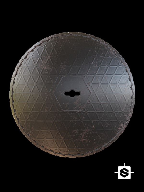 manhole street road asphalt metal iron forged city town