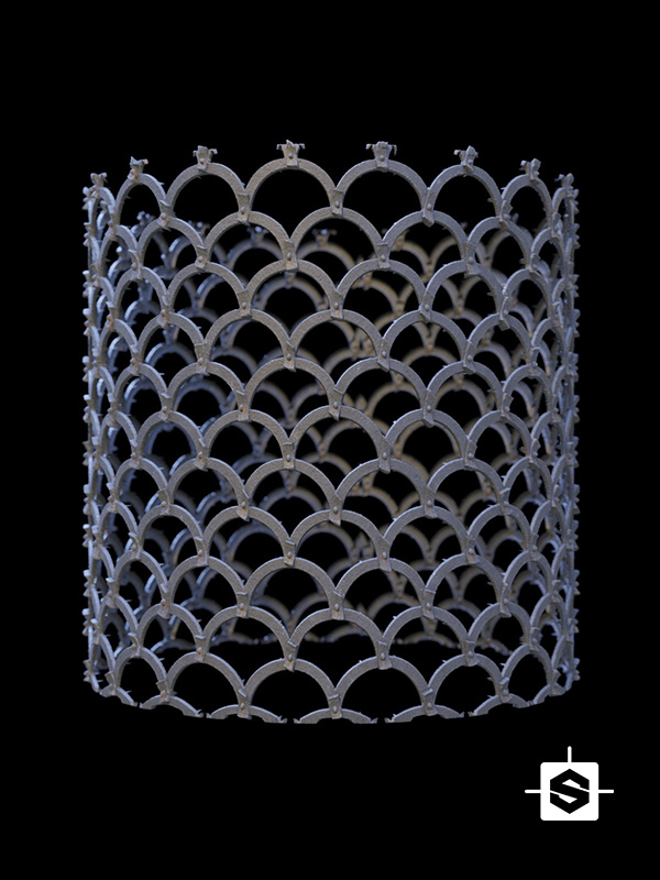 metal iron guard door medieval cast mesh