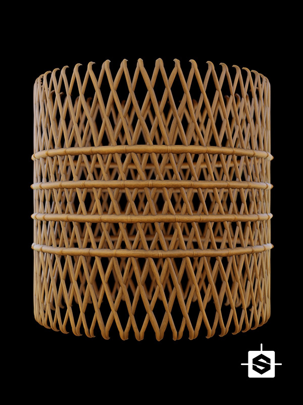 bamboo lattice mesh wood
