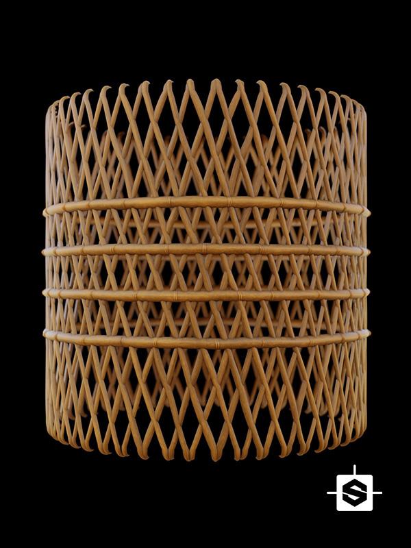 bamboo lattice mesh wood
